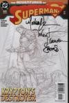 Adventures Of Superman #625 2nd Printing Signed