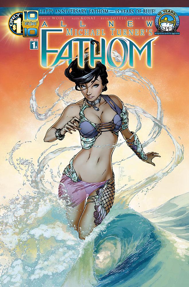 aspen store com variant FATHOM #4 E 4e MICHAEL TURNER COMIC BOOK 1st print