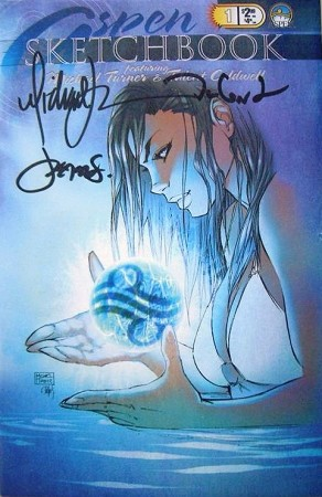 Aspen 2003 Sketchbook Signed by Michael Turner, Peter Steigerwald and Talent Caldwell