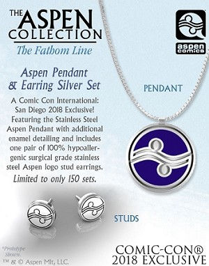 Aspen 2018 SDCC Pendant and Earring Set