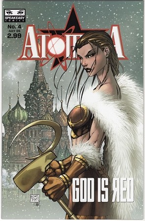 Atomika God is Red # 4 Turner Variant Signed