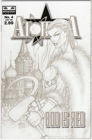 Atomika God is Red # 4 Turner Sketch Variant Signed by Michael Turner