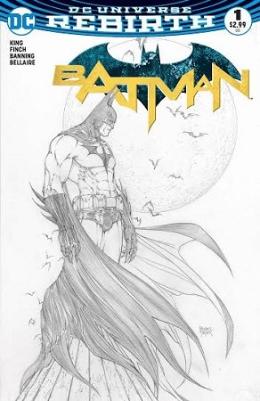Batman # 1 Aspen Turner B&W  Variant VF