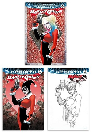 Harley Quinn # 1 Michael Turner Puddin' Pack 3-Cover Set