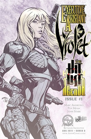 Executive Assistant Violet # 1 Cover C Mhan Sketch