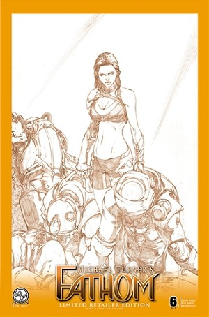 Fathom Vol 4 # 6 Cover C Konat Sketch