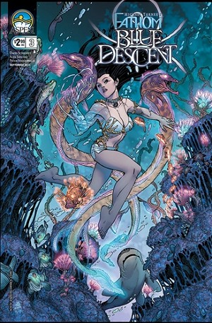 Fathom Blue Descent # 3 Cover B Bradshaw