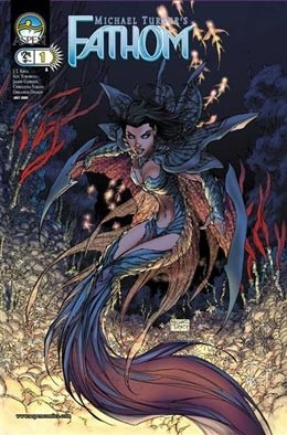 Fathom Vol 2 # 1 Cover A Turner - Signed by Michael Turner-VF