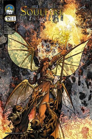 Soulfire Chaos Reign # 2 Manupul Cover