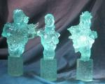 Fathom Mini-Bust Clear Set of 3 Aspen Kaini & Cannon