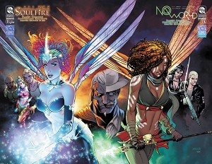 No World # 1 Soulfire Vol 6 # 2 Planet ComiCon 2017 Connecting Cover Set