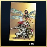 Michael Turner Creations Grace and Grell 9x12 Print