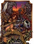Medieval Spawn Witchblade #2 - Turner Pin-up