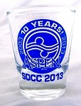 Aspen 10th Anniversary SDCC Shotglass